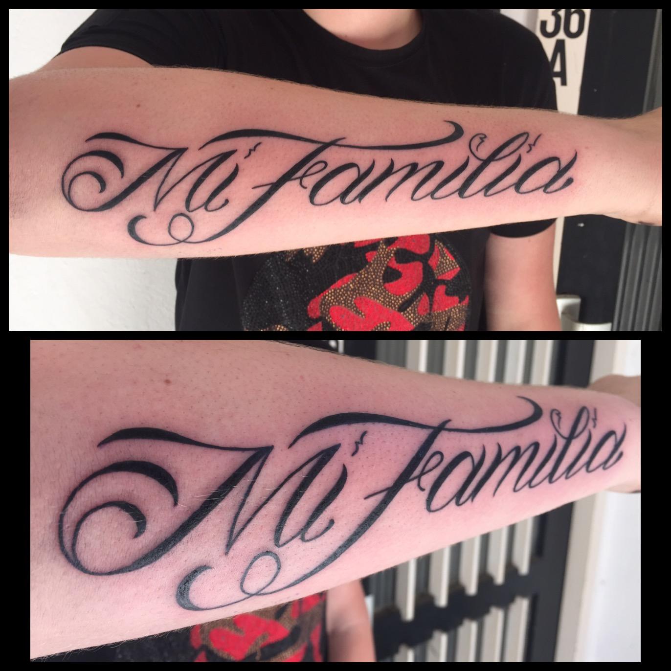 Namen Teksten Tattoos By Driekus Hendriks De Tattoo Zaak